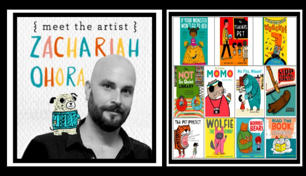 Barrett welcomes author, illustrator Zachariah OHora