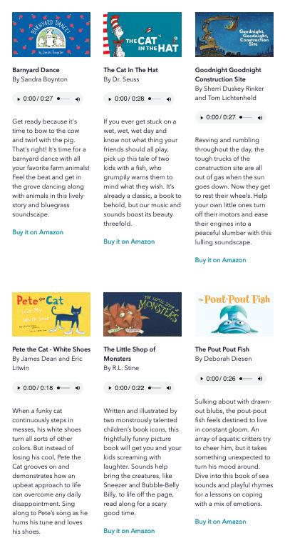 book titles on Novel Effect app