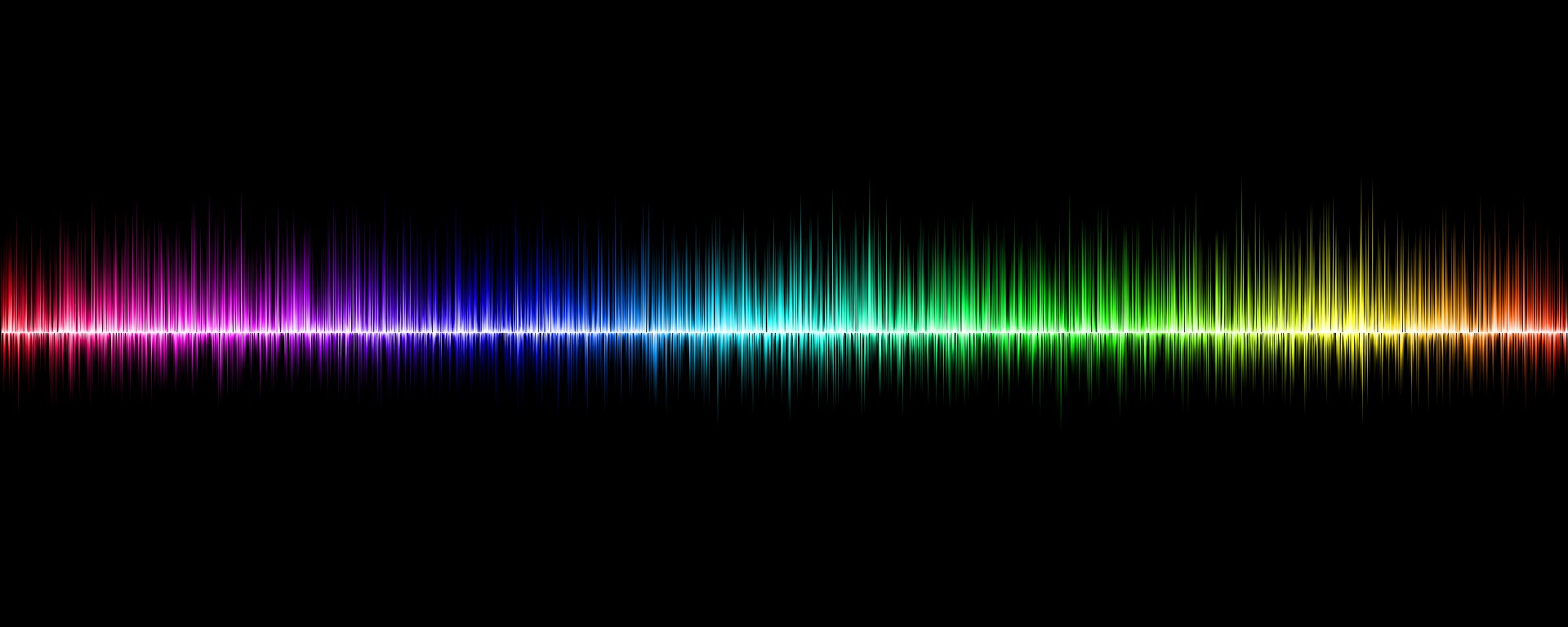 sound waves and visible spectrum graphic