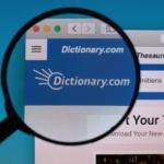 2020-05-26 Dictionary com logo under magnifying glass