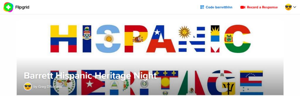 히스패닉 문화 유산의 밤 Flipgrid